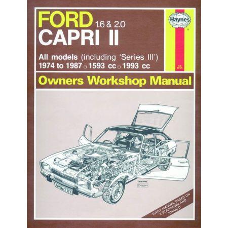 Capri II III 1.6 2.0 74-87 Revue technique Haynes FORD Anglais