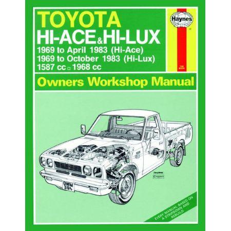 Hi-Ace Hi-Lux Petrol 69-83 Revue technique Haynes TOYOTA Anglais