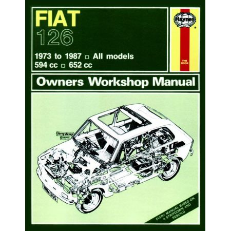 126 up to E classic 73-87 Revue technique Haynes FIAT Anglais