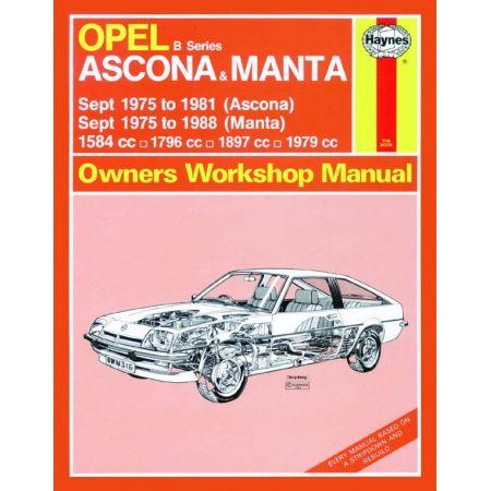 Ascona Manta B Series 75-88 Revue technique Haynes OPEL Anglais