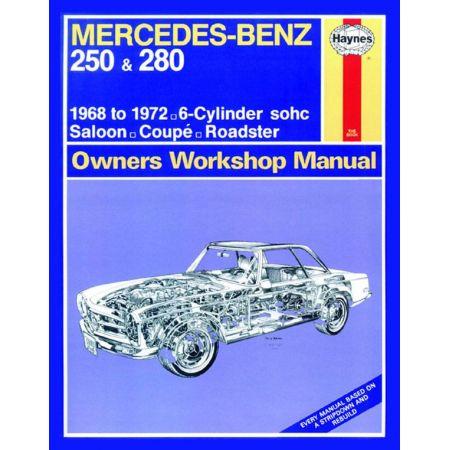 250 280 classic 68-72 Revue technique Haynes MERCEDES Anglais