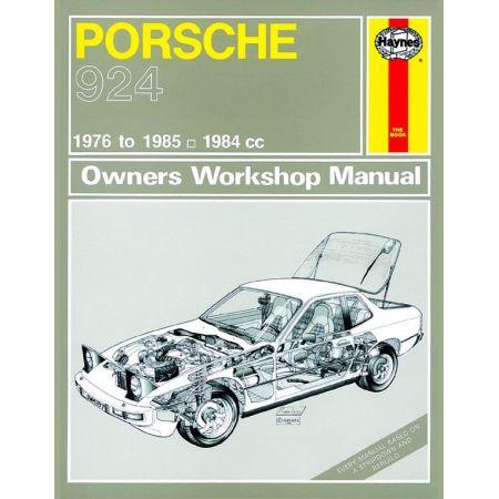 924 et Turbo 76-85 Revue technique Haynes PORSCHE Anglais