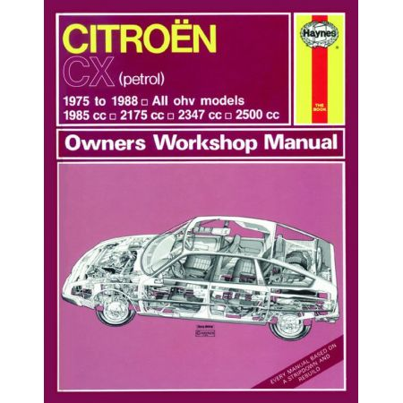 CX Petrol up to F classic 75-88 Revue technique Haynes CITROEN Anglais