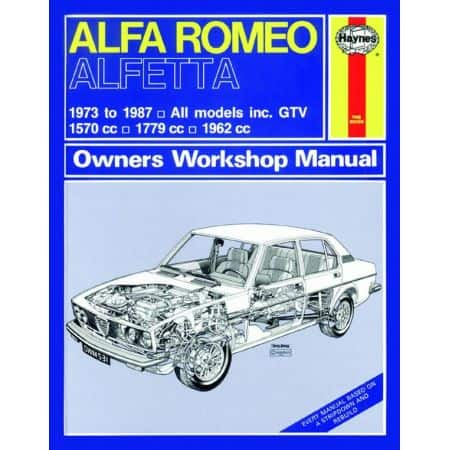 Alfetta up to E classic 73-87 Revue technique Haynes ALFZ ROMEO Anglais