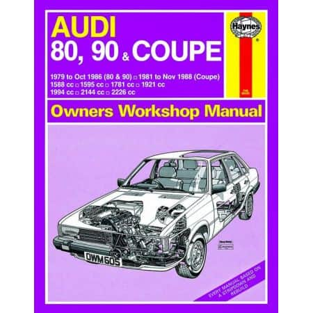 80 90 Coupe up to F 79-11/88 Revue technique Haynes AUDI Anglais