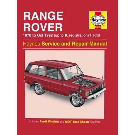 V8 Petrol 70-92 Revue technique Haynes RANGE-ROVER Anglais