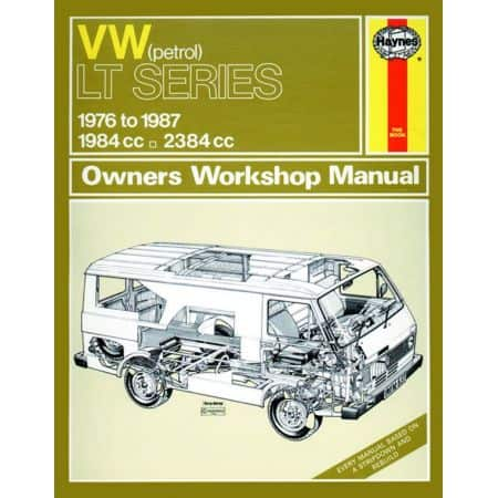 LT Petrol Vans Light Trucks 76-87 Revue technique Haynes VW Anglais