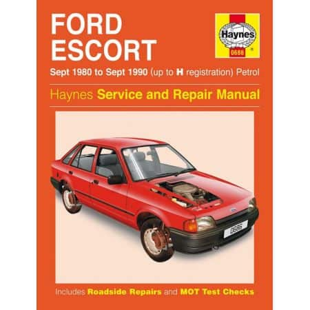 Escort Petrol up to H 80-90 Revue technique Haynes FORD Anglais