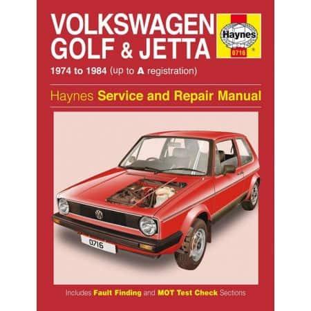 Golf Jetta Mk 1 Petrol 1.1 1.3 74-84 Revue technique Haynes VW Anglais