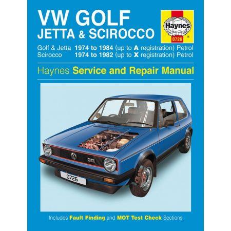 Golf Jetta Scirocco Mk 1 74-84 Revue technique Haynes VW Anglais