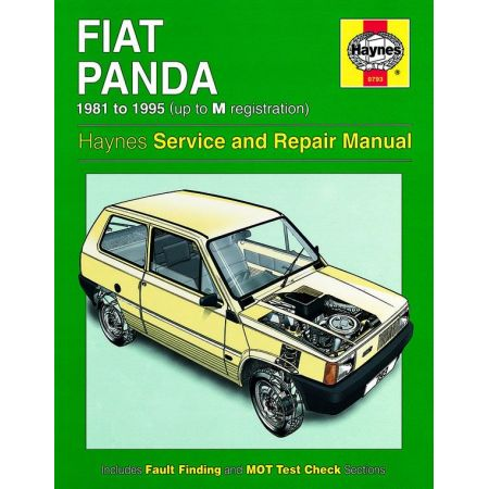 Panda up to M classic 81-95 Revue technique Haynes FIAT Anglais