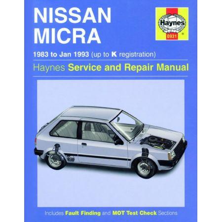 Micra 83-93 Revue technique Haynes NISSAN Anglais