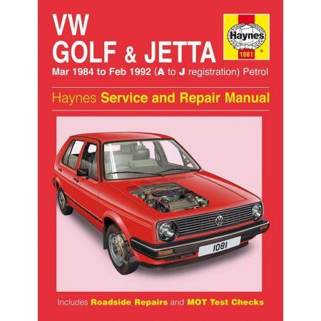 Golf Jetta Mk 2 Petrol 84-92 Revue technique Haynes VW Anglais
