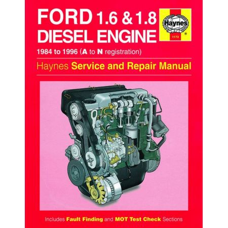 1.6 1.8 litre Diesel Engine A to N 84-96 Revue technique Haynes FORD Anglais