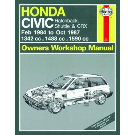 Civic A to E 84-87 Revue technique Haynes HONDA Anglais