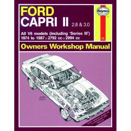 Capri II III 2.8 3.0 V6 74-87 Revue technique Haynes FORD Anglais