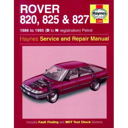 820 825 827 Petrol D to N 86-95 Revue technique Haynes ROVER Anglais
