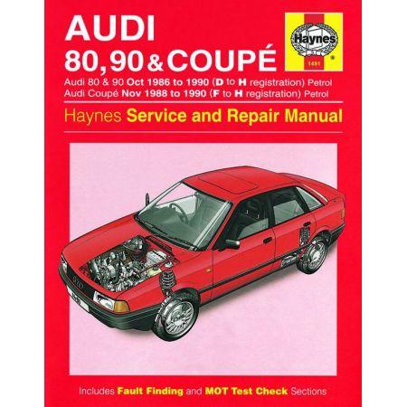 80 90 Coupe Petrol 86-90 Revue technique Haynes AUDI Anglais