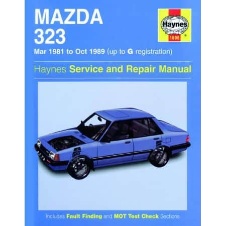 323 up to G 03/81-10/89 Revue technique Haynes MAZDA Anglais