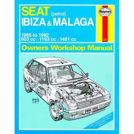 Ibiza Malaga Petrol B to K 85-92 Revue technique Haynes SEAT Anglais
