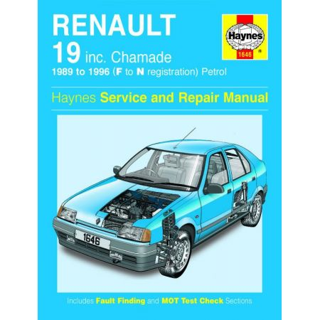 R19 Petrol F to N 89-96 Revue technique Haynes RENAULT Anglais