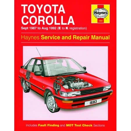 Corolla Petrol 87-92 Revue technique Haynes TOYOTA Anglais