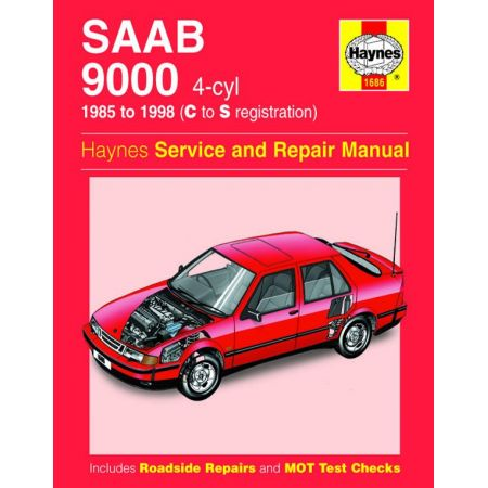 9000 4-cyl 85-98 Revue technique Haynes SAAB Anglais