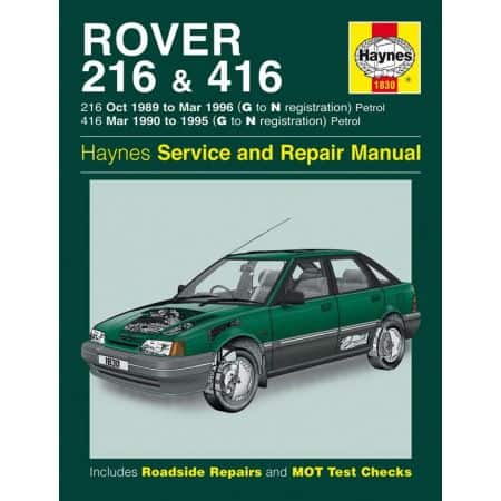 216 416 Petrol G to N 89-96 Revue technique Haynes ROVER Anglais