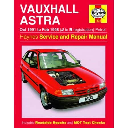 Astra Petrol J to R 91-98 Revue technique Haynes VAUXHALL Anglais