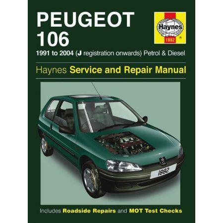 106 Petrol Diesel J to 53 91-04 Revue technique Haynes PEUGEOT Anglais