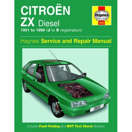 ZX Diesel J to S 91-98 Revue technique Haynes CITROEN Anglais