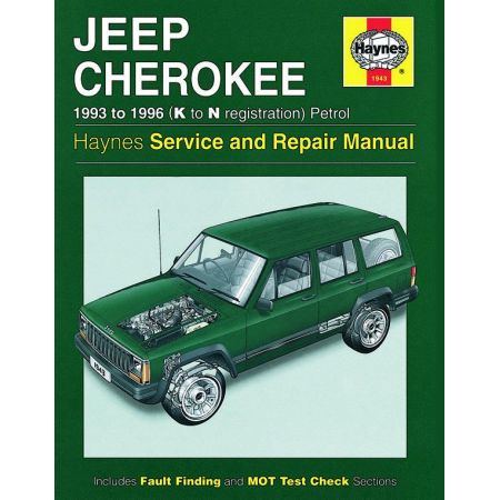 Cherokee Petrol K to N 93-96 Revue technique Haynes JEEP Anglais