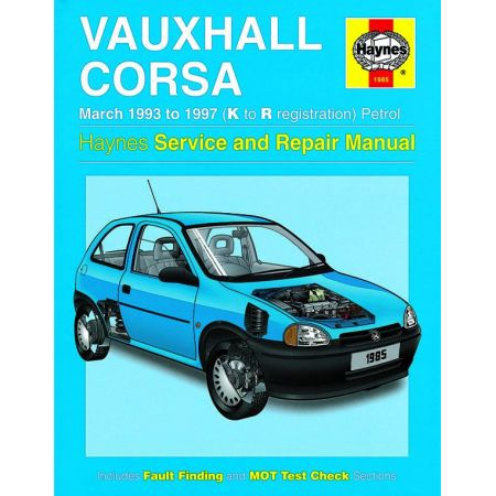 Corsa Petrol K to R 93-97 Revue technique Haynes OPEL Anglais
