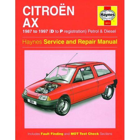 AX Petrol Diesel D to P 87-97 Revue technique Haynes CITROEN Anglais