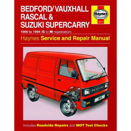 Rascal Supercarry 86-94 Revue technique Haynes BEDFORD SUZUKI Anglais