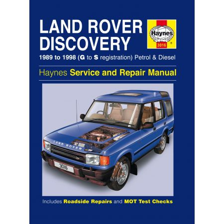 Discovery Petrol Diesel G to S 89-98 Revue technique Haynes LAND-ROVER Anglais