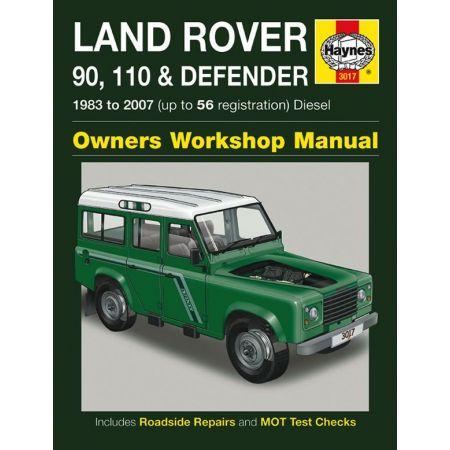 90 110 Defender Die 83-07 Revue technique Haynes ROVER Anglais