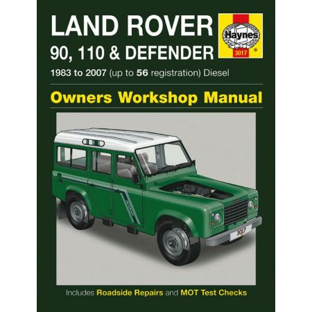 90 110 Defender Die up to 56 83-07 Revue technique Haynes LAND-ROVER Anglais