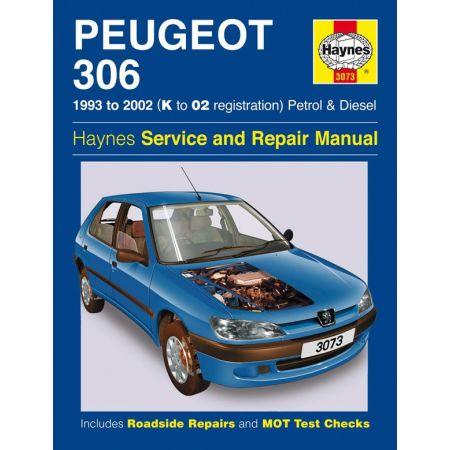 306 Petrol Diesel K to 02 93-02 Revue technique Haynes PEUGEOT Anglais