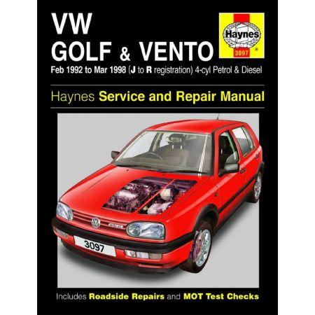 Golf Vento 92-98 Revue technique Haynes VW Anglais