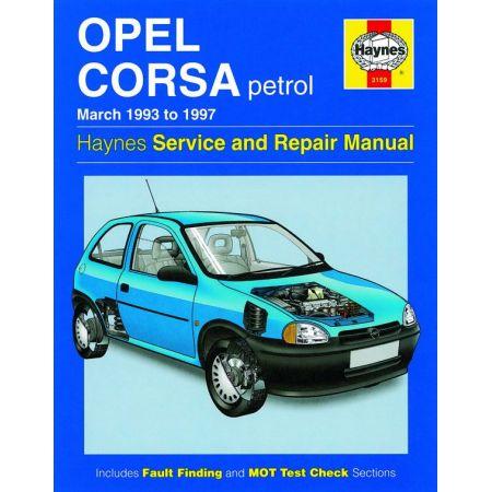 Corsa Petrol Mar 93-97 Revue technique Haynes OPEL VAUXHALL Anglais