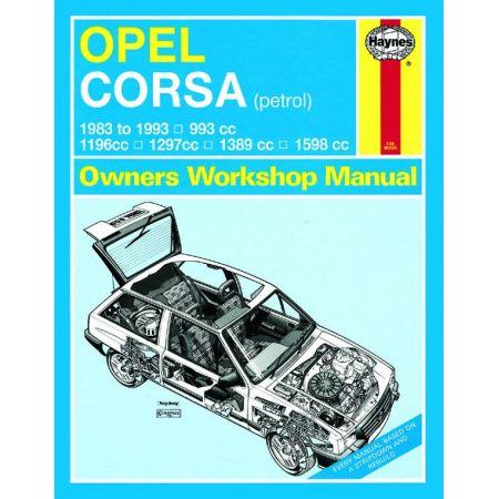 Corsa Petrol 83-93 Revue technique Haynes OPEL VAUXHALL Anglais