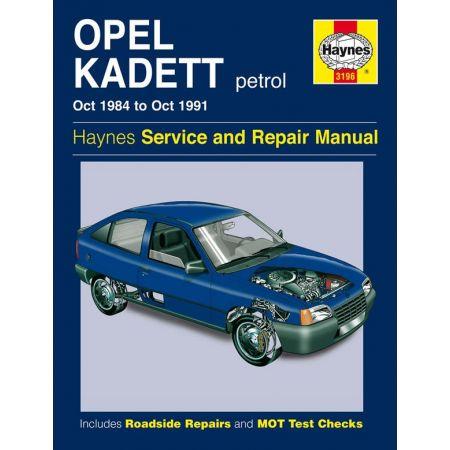 Kadett Petrol 84-91 Revue technique Haynes OPEL VAUXHALL Anglais