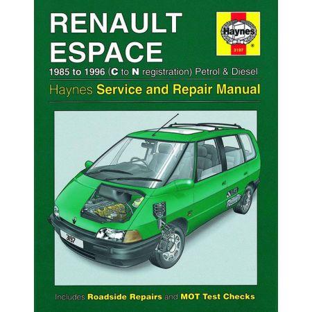 Espace Petrol Die 85-96 Revue technique Haynes RENAULT Anglais