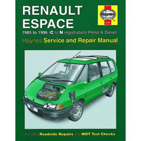 Espace Petrol Diesel C to N 85-96 Revue technique Haynes RENAULT Anglais