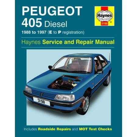 405 Die E to P 88-97 Revue technique Haynes PEUGEOT Anglais