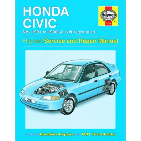 Civic 91-96 Revue technique Haynes HONDA Anglais