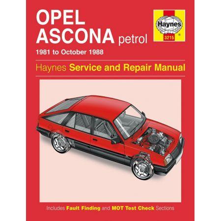 Ascona Petrol 81-88 Revue technique Haynes OPEL VAUXHALL Anglais