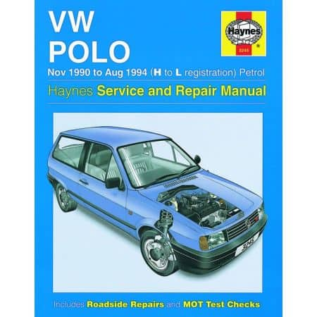Polo Petrol H to L 90-94 Revue technique Haynes VW VOLKSWAGEN Anglais