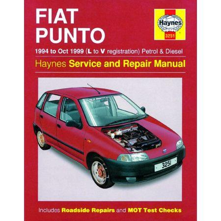 Punto Petrol Die 94-99 Revue technique Haynes FIAT Anglais